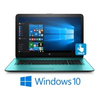 "HP 17-X008 Intel N3710 Quad Core 1.6 Ghz 8GB 1TB HDMI 17,3"" Touchscreen 1600x900 Windows 10 Turquoise"